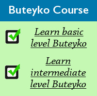 Buteyko Breathing course - basic and intermediate level